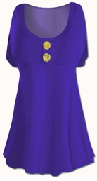 SOLD OUT! SEE jas-1655-blu Royal Blue Cotton Lycra Mock Button or Plain Top Plus Size & Supersize Short Sleeve Shirt 1x 2x 3x 4x 5x 6x 7x