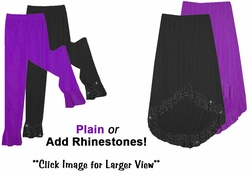 Ruffle Bottom Plus Size & Supersize Pants, Palazzos, Capris or Skirts Lg XL 1x 2x 3x 4x 5x 6x 7x 8x 9x!