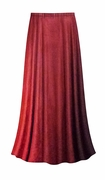 FINAL CLEARANCE SALE! Plus Size Red to Burgundy Velvet Ombre Print Skirt Lg