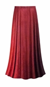 CLEARANCE! Plus Size Red to Burgundy Velvet Ombre Print Skirt Lg