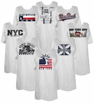 SALE!! $9.99 New York & Jersey Front Print T-Shirts!