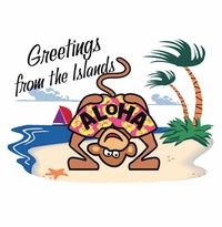 SALE! Aloha! Plus Size & Supersize T-Shirts S M L XL 2xl 3xl 4x 5x 6x 7x 8x (Lights Only)