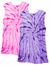 SALE! Tiedye T-Shirts! Be a Passionate Purple or a Hot Hot Hot Pink Swirl Girl! Tie Dye Tanks Size 3x 4x