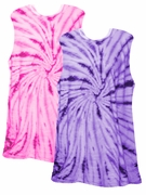 SALE! Tiedye T-Shirts! Be a Passionate Purple or a Hot Hot Hot Pink Swirl Girl! Tie Dye Tanks Size 2x