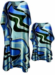 SOLD OUT! Beautiful Blue Swirls Caftan Dresses & Shirts - Fits 1x to 7x