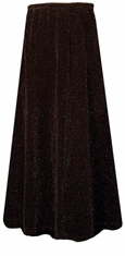 SOLD OUT! SALE! Beautiful Shimmering Black & Black Glimmer Long Flowing Plus Size Skirt 1x 2x 3x 4x 5x 6x 7x 8x 9x