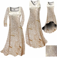 CLEARANCE! Beige & Gold Metallic Shiny Slinky Plus Size & Supersize Dresses Jackets Pants Shirts L  3x