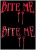 SALE! Bite Me! Blood Red Plus Size & Supersize T-Shirts S M L XL 2x 3x 4x 5x 6x 7x 8x - Many Colors!