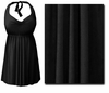 CLEARANCE! Plus Size Black 2PC Halter or Straps Style Swimsuit/Swimdress XL 0x 1x 2x 5x