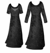 FINAL CLEARANCE SALE! Black Crush Velvet Plus Size & Supersize Sleeve Dress LG