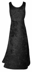 SOLD OUT! SALE! Black Crush Velvet Plus Size & Supersize Tank Dress 4x