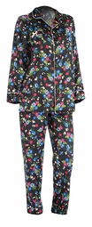 SOLD OUT! SALE! Beautiful Plus Size Pajama Set! Black Floral Satin 2-Piece Plus Size PJs 5x