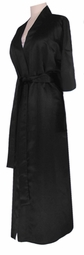 SOLD OUT! CLEARANCE! Black Lightweight Plus Size Satin Robe 5x 8x