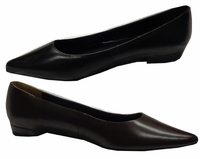 SALE! Black or Brown Flat Wide Width Shoe 9W 9.5W