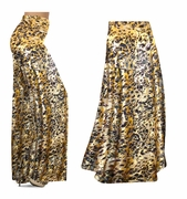 CLEARANCE! Black Ornate With Gold Metallic Slinky Print Plus Size Palazzo Pants 0x