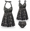 CLEARANCE! Black Polka Dot Print Bottoms, Shorts & Swimsuit/SwimDress Separates! 1x 3x