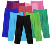 FINAL CLEARANCE SALE! Poly/Cotton Plus Size & Supersize Straight, Long Tapered or Capri Pants LG 0x 1x 2x 3x 4x 5x 7x 8x 9x