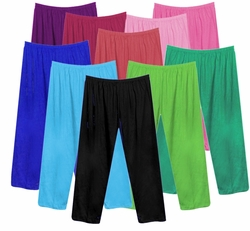FINAL CLEARANCE SALE! Poly/Cotton Plus Size & Supersize Straight, Long Tapered or Capri Pants LG 0x 1x 2x 3x 4x 7x 8x