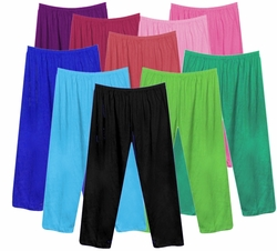 CLEARANCE! Poly/Cotton Plus Size & Supersize Straight, Long Tapered or Capri Pants 0x 1x 2x 3x 4x 8x 9x