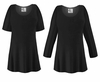 FINAL CLEARANCE SALE! Plus Size Black Slinky Top XL 3x 4x