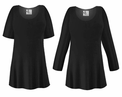 CLEARANCE! Plus Size Black Slinky Top 1x 6x 7x