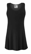 CLEARANCE! Black Slinky Plus Size & Supersize Sleeveless Tank Top Shirt 1x