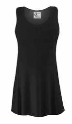 SOLD OUT! CLEARANCE! Black Slinky Plus Size & Supersize Sleeveless Tank Top Shirt 1x