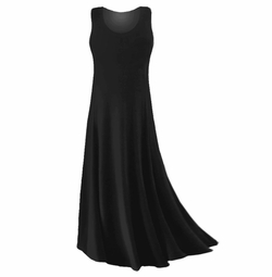 FINAL CLEARANCE SALE! Plus Size Black Slinky or Spandex Tank Dress 0x 2x