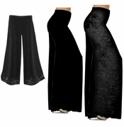 CLEARANCE! Black Slinky or Cotton Plus Size Wide Leg Palazzo Pants M XL 0x 1x 3x 4x 5x 6x 7x 8x Petite & Tall