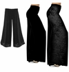 CLEARANCE! Black Slinky or Cotton Plus Size Wide Leg Palazzo Pants M XL 0x 1x 3x 4x Petite & Tall