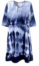 CLEARANCE!  Blue Seas Tie Dye Plus Size & Supersize X-Long T-Shirt 4x