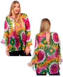 SALE! Bright Floral Sheer Plus Size Top 4x 5x 6x