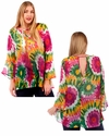 SALE! Bright Floral Sheer Plus Size Top 4x 5x