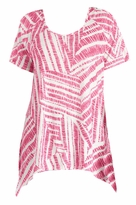SOLD OUT! SALE! Bright Pink Hanky Hem Plus Size Top 4x