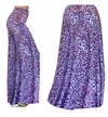 CLEARANCE! Bright Purple & Light Blue Leopard Spots Slinky Print Plus Size Supersize Palazzo Pants 1x