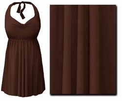 SOLD OUT! Brown 2PC Halter or Straps Style Swimsuit/Swimdress Plus Size & Supersize