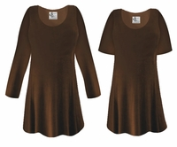CLEARANCE!  Brown Slinky Plus Size & Supersize Shirt LG XL 0x 2x 8x