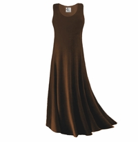 SOLD OUT! CLEARANCE! Brown Slinky Plus Size & Supersize Tank Dress 2x