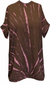 SALE! Brown Starburst With Light Pink Tie Dye Plus Size T-Shirt 3x 4x 5x 6x