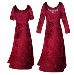 SOLD OUT! Burgundy Crush Velvet Plus Size & Supersize Sleeve Dress