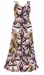 SOLD OUT! Butterfly V-Nckline Flared Maxi Dress Plus Size