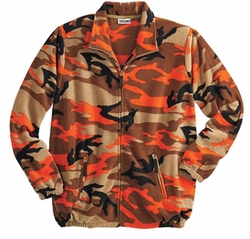 SALE! Camo Plus Size Fleece Jacket 4XL