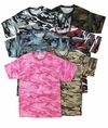 SALE! Camouflage T-Shirts Many Colors! Pink Green Tan Blue Black Wine 2x 3x 4x