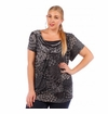 SALE! Charcoal Plus Size Cowlneck Slinky Top 4x 6x