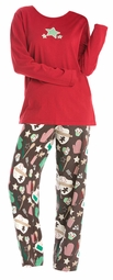 SALE! Plus Size Chocolate Cookies Pajamas! Cute knit PJs  5x