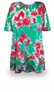 SALE! Christmas Heaven Tie Dye Plus Size T-Shirt + Add Rhinestones L XL 2x 3x 4x 5x 6x