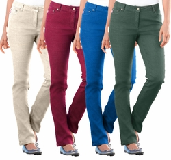 SOLD OUT! SALE! Cobalt Blue, Burgundy, Dark Green, or Khaki Stretch Skinny Leg Plus Size Jeans 5x/34w