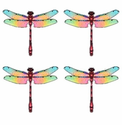 SALE! Color Medley Dragonflies Plus Size & Supersize T-Shirts S M L XL 2x 3x 4x 5x 6x 7x 8x (Lights Only)