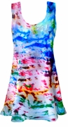 SALE! Color Splash Tie Dye Plus Size & Supersize  X-Long Tank Top 0x 1x 2x 3x 4x 5x 6x 7x 8x