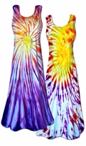 SALE! Colorful Sunrise / Sunset Tie Dye Plus Size & Supersize Princess Cut Tank Super Size Dress 0x 1x 2x 3x 4x 5x 6x 7x 8x